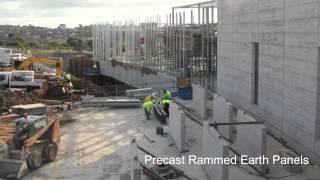 Precast Rammed Earth Panels (racv Torquay 2012)