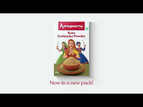 Annapoorna Kota Coriander Powder - Unveiling the new packaging