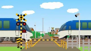 踏切カンカンと特急しまかぜの子供向けアニメ動画 thumbnail