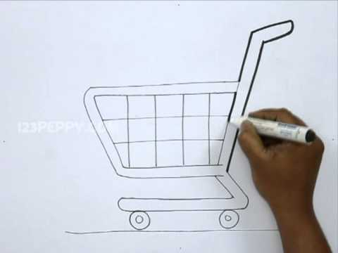 how to draw a shopping cart youtube rh youtube com how to draw a cartoon shopping cart how to draw a cartoon shopping bag