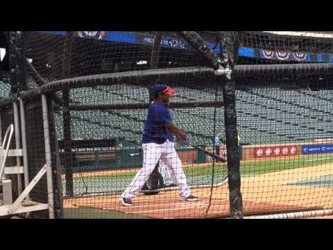 Delino DeShields batting practice video