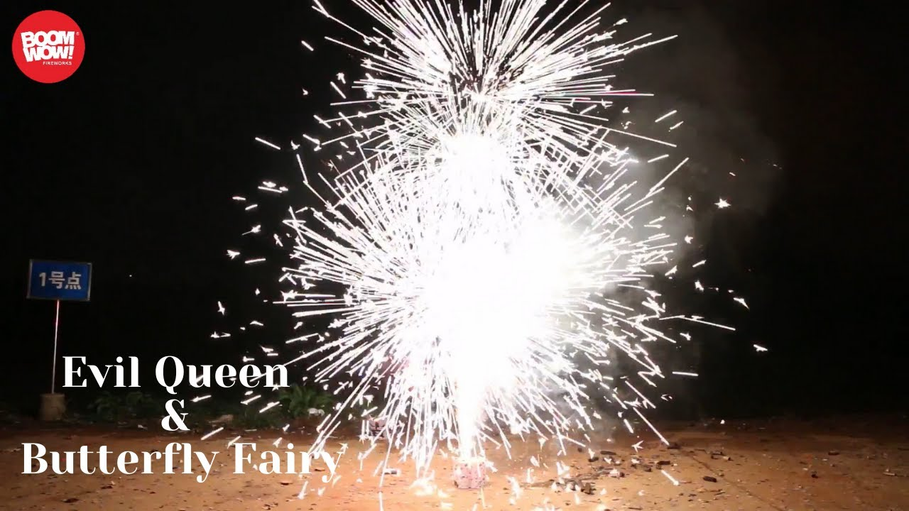 BW1427 BW1428  Evil Queen & Butterfly Fairy Fountain Boomwow fireworks