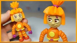Лепим фиксика Симку из пластилина. Fixies - Simka made of clay.