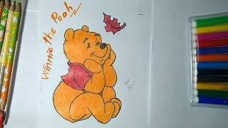 How To Draw Pooh Bear In Winnie The Pooh ❤ Draw Animal Cartoons For Kids ❃ZoZo TV♫