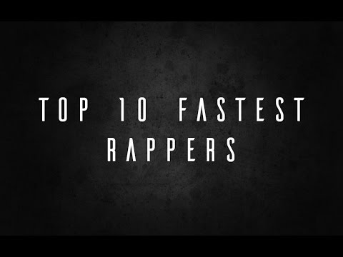 top 10 fastest rapper list
