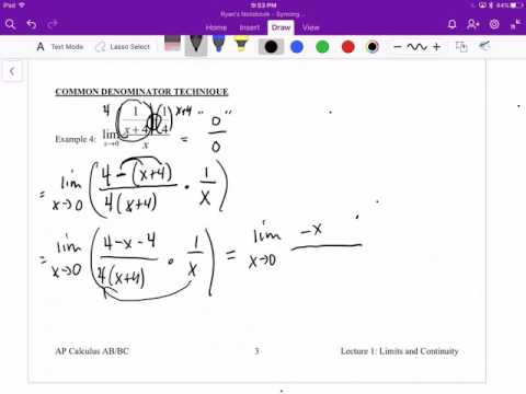 Video Lecture 1 - Limits and Continuity