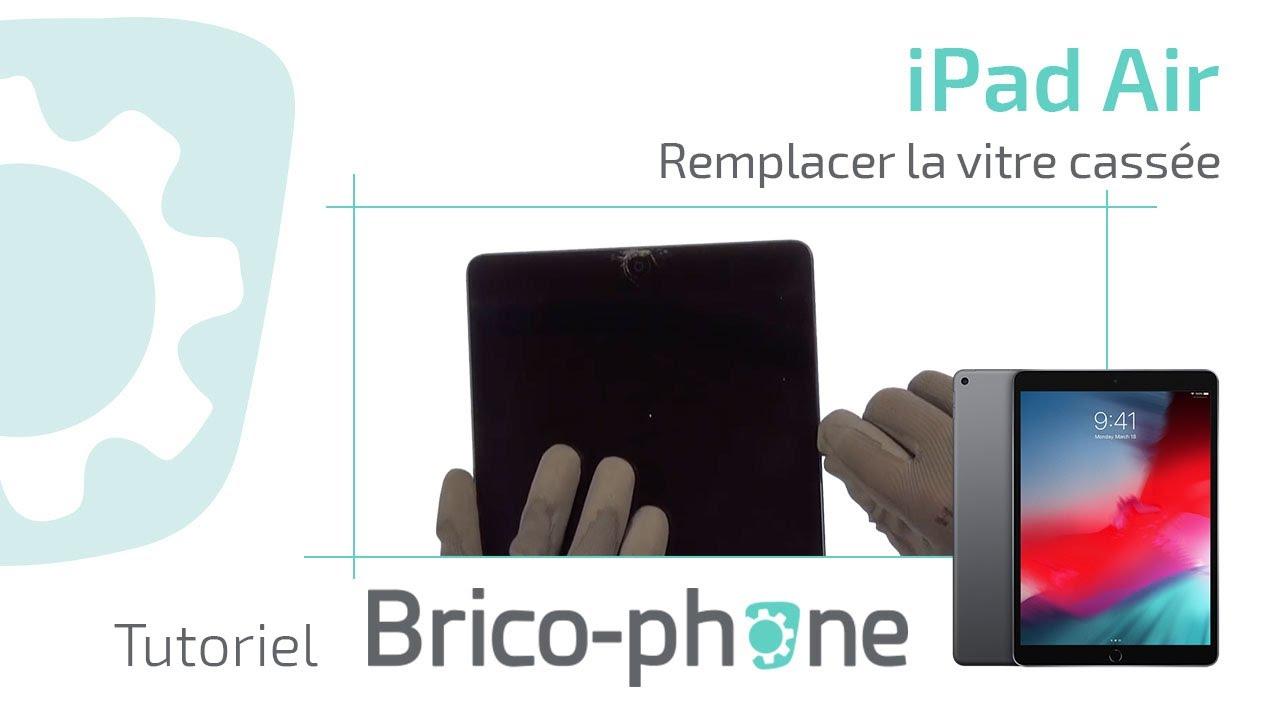 Tutoriel Réparation : Ipad AIR Changer La Vitre Cassée Démontage +  Remontage HD   YouTube
