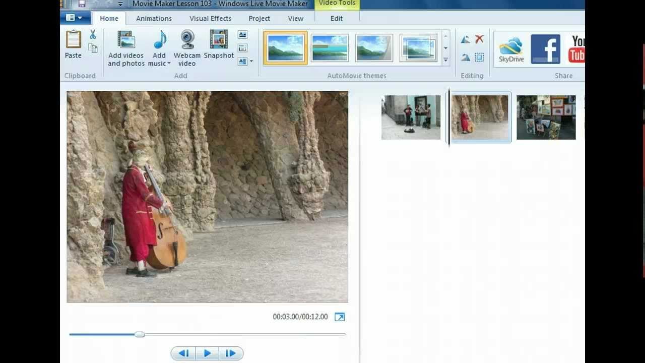 how to add pictures in movie maker