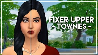 FIXING THE GOTHS // The Sims 4: Townie Makeovers