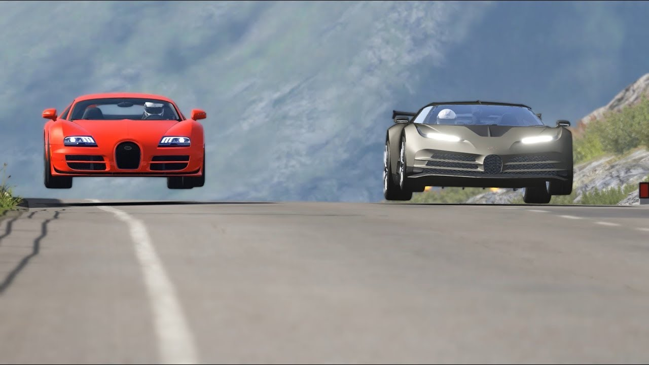 Bugatti Centodieci vs Bugatti Veyron 16.4 Super Sport at Highlands