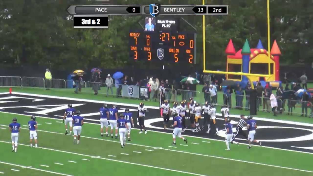 Bentley Football vs Pace, 10-1-16 - YouTube