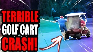 CRAZY GOLF CART ACCIDENT **PRANK!**