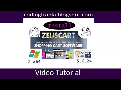 Install ZeusCart V4 on Windows 7 localhost - opensource PHP Shopping cart