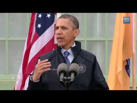 President Obama New Jersey Shore Speech Governor Chris Christie