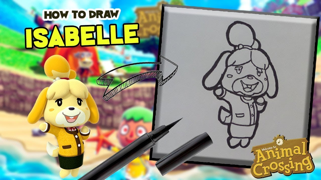 How to draw ISABELLE -Animal Crossing- - YouTube