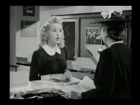 """Betty Grable - Deleted Scene from """"I Wake Up Sreaming"""" - """"Daddy"""""""