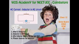 W2S AcademY Class 12 Physics - Inductor in AC circuit