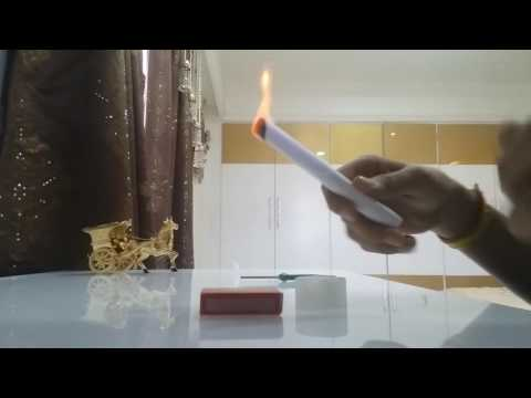 How to blow a paper cigar