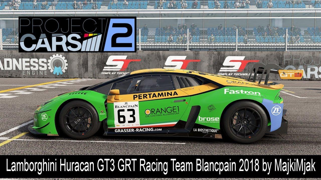 Project Cars 2 Lamborghini Huracan Gt3 Grt Racing Team Blancpain 2018