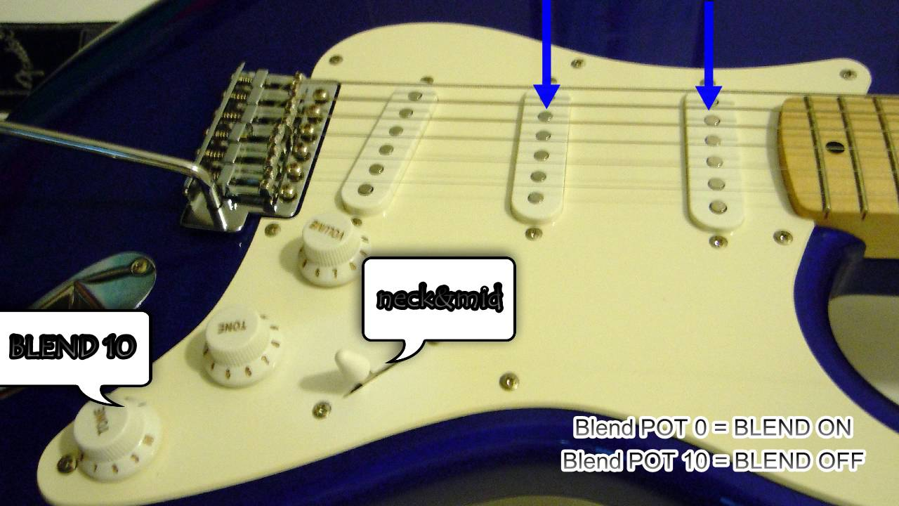 Blender Strat wiring from Breja Toneworks: sound from a Squier ...