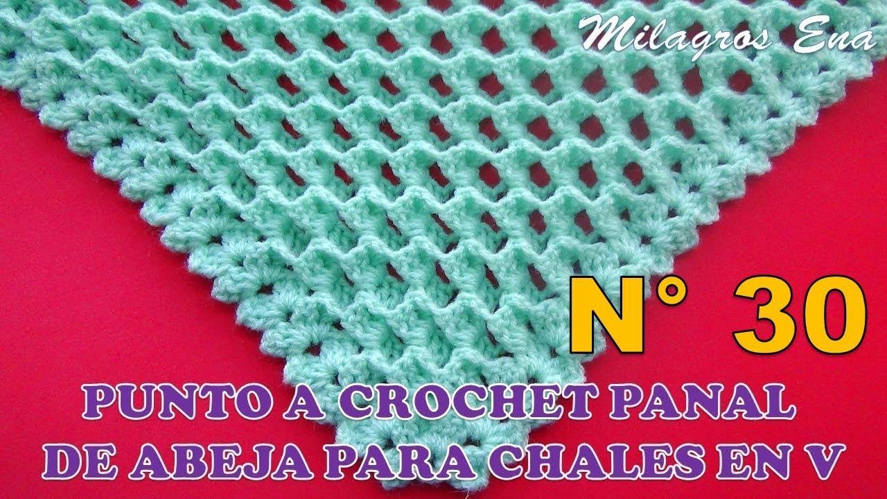 PUNTO A CROCHET PARA CHALES: PANAL DE ABEJA O NIDO DE ABEJA EN 3D ...