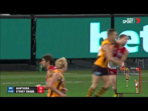 Sam Mitchell hits Tom Mitchell high - AFL