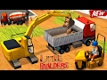 Little Builders: Trucks, Cranes, Digger | New Fun Construction Games - Videos For Children