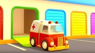 ¡NEW! Dibujos animados de COCHES. VEHíCULOS DE SERVICIO. Episodio 2. Ambulancia y Camión de remolque