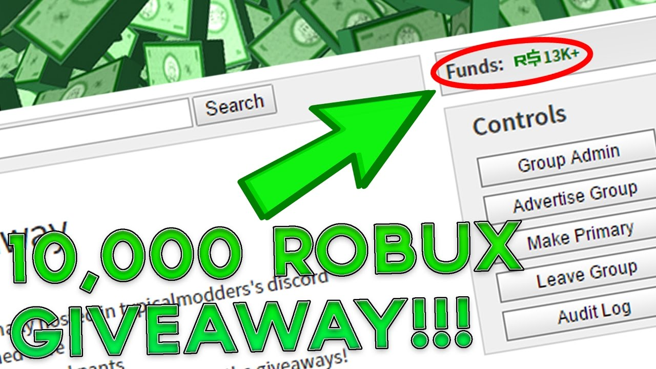 10 000 Robux Giveaway Ended Youtube