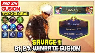 Download SAVAGE !!! 91,2 % Winrate Gusion [ Top Global Gusion ]  RRQ X I N !!! - Mobile Legends