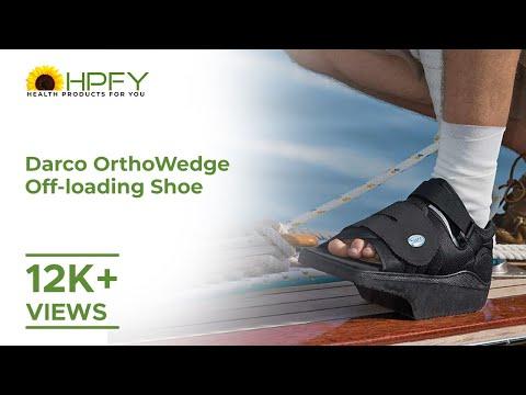 111598ab31e0 Darco OrthoWedge Off Loading Shoe - YouTube