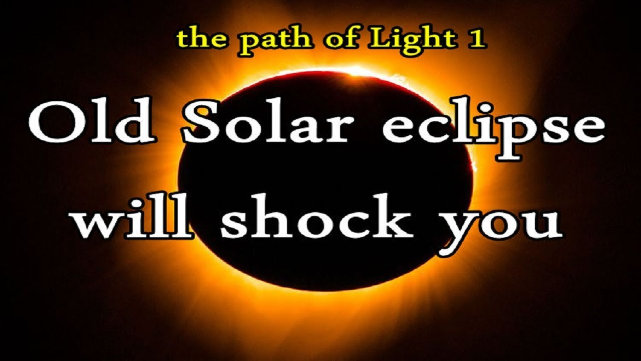 an old solar eclipse proved the prophethood