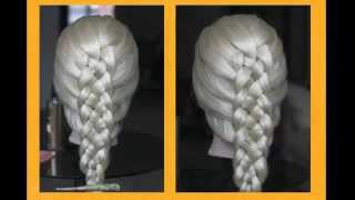 Плетение. Коса из 5 прядей .(Часть 2) Weave. Five strand braid.