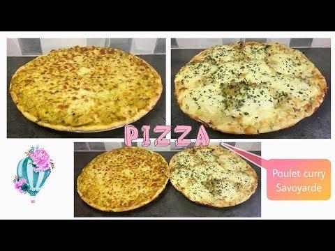 pizza-:-poulet-curry-et-savoyarde-🍕