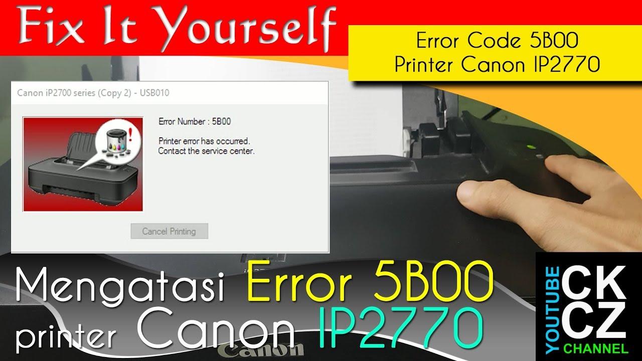 Printer error has occurred 5800