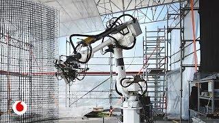 Robots y una impresora gigante para construir edificios