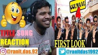 Golmaal Title Track ()|Ajay,Parineeti,Arshad,Tusshar,Shreyas,Kunal,Tabu|Reaction & Thoughts