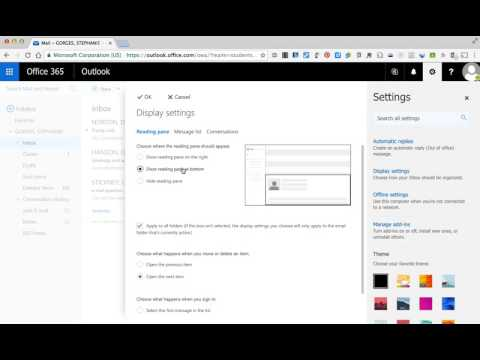 Office 365 Change Outlook Settings