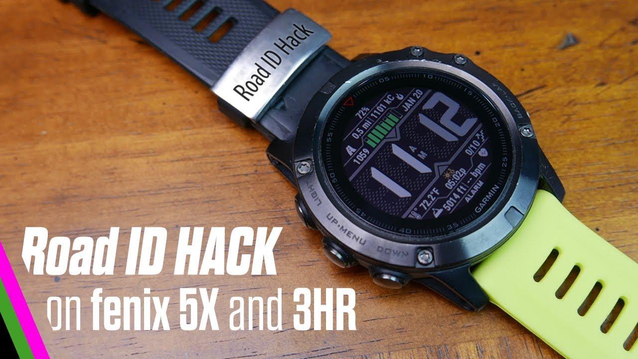 Road ID Hack with Fenix 5X/Fenix 3/3HR
