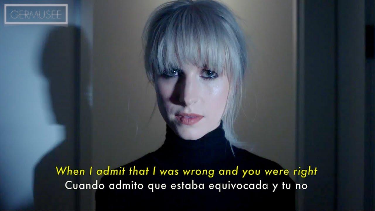 Paramore - Told You So (Subtitulada en Español + Lyrics ... Paramore Lyrics