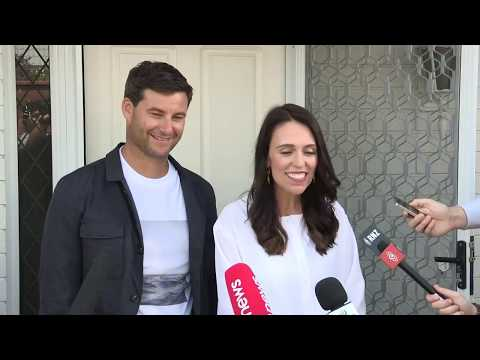 Jacinda Ardern speaks to media after announcing her pregnancy