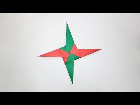 How to make a paper star - Easy origami star instructions