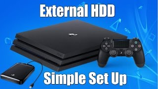 How To Properly Set up an External Hard Drive for your PS4
