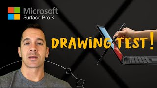 Surface Pro X drawing test!! Microsoft's new Windows 10 on ARM Slim Pen gets tested