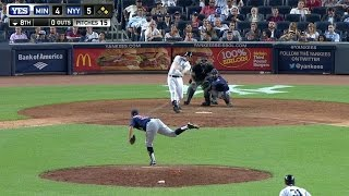 MIN@NYY: Headley drives in two with a double to right