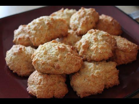 Видео-рецепт.  Кокосовое печенье \ How to Make Coconut Cookies.