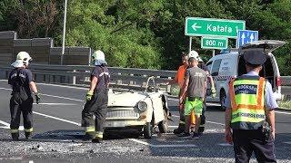 Trabant vs. kamion - 86-os főút, Nádasd