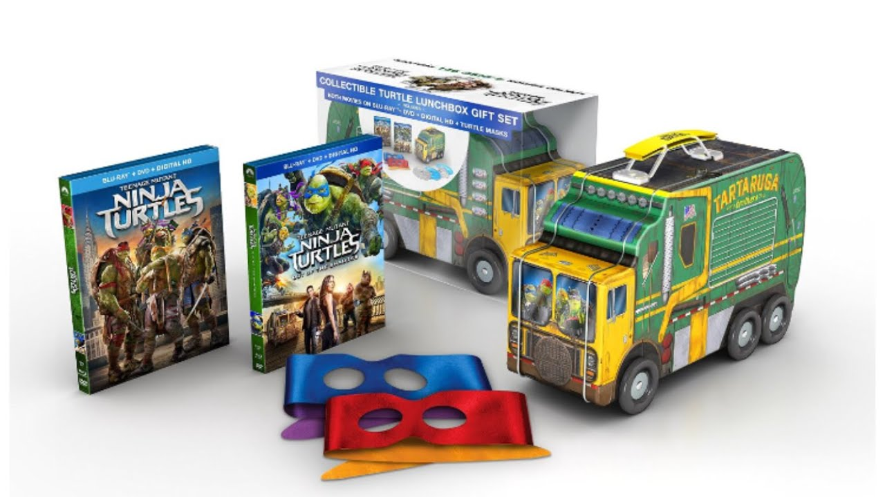 MOVIE UNBOXING: TMNT Ninja Turtles Blu-Ray DVD Collectible Lunch ...