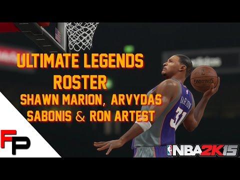 NBA 2K15 - Ron Artest, Prime Shawn Marion & Arvydas Sabonis - Ultimate Legends Roster Update 24