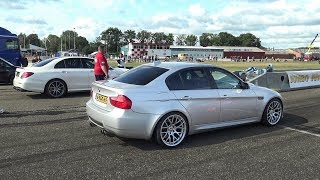 BMW M3 E90 with S55 M3 F80 ENGINE! VS. 700HP E63 AMG, M3 E46, Focus RS!